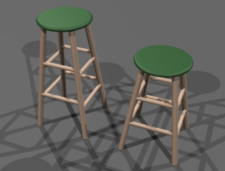 "I'll also show you how these ""bar stools"" are constructed. In fact, I'll probably start with these, since they're fairly simple."