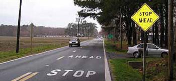 ahead stop