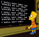 Bart blackboard voices
