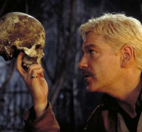 "(Many misquote the first line of this soliloquy. ""Alas, poor Yorick! I knew him, Horatio: a fellow of infinite jest,.."")"