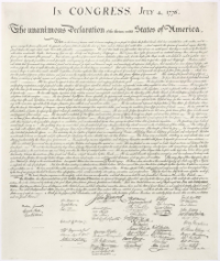 US Declaration of Independence