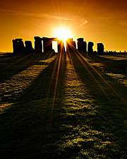 stonehendge sunset