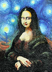 Mona Lisa Starry Night