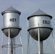 water tower hot cold