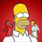 Homer devil-angel
