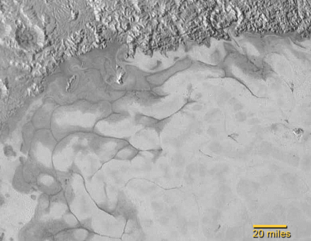 Pluto ice plains