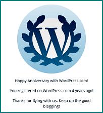 WP 4 Years!